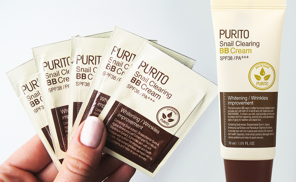Recension PURITO Snail Clearing BB Cream SPF 38/PA++ från Korea. K-beauty Sverige Blogg