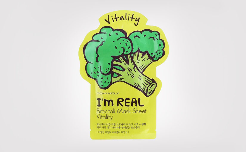 Recension TonyMoly I'm Real Mask Sheet Broccoli sheetmask från Korea | K-beauty Sverige Blogg