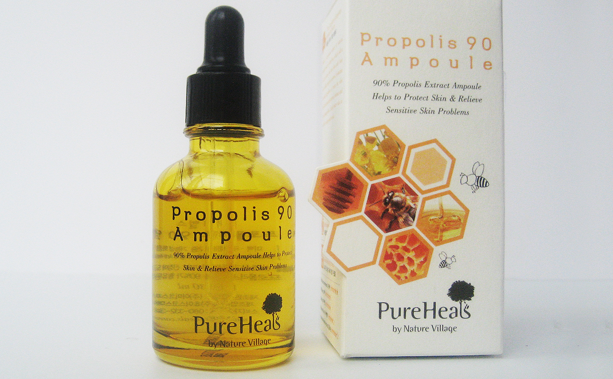 First impression recension PureHeal's Propolis 90 Ampoule serum från Korea. Koreansk hudvård K-beauty Blogg Sverige