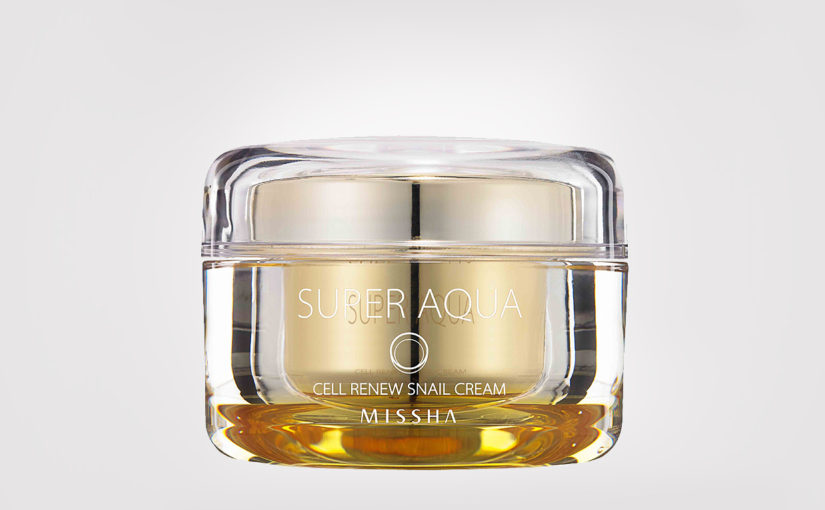 First impression recension Missha Super Aqua Cell Renew Snail Cream ansiktskräm från Korea Koreansk hudvård K-beauty Blogg Sverige