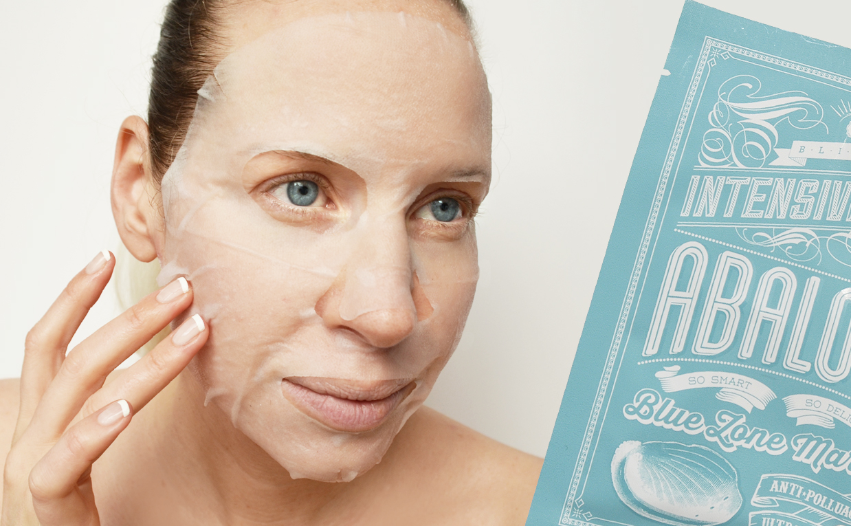 Recension Blithe Blue Zone Marine Intensive Mask Abalone sheet mask från Korea Koreansk hudvård K-beauty Blogg Sverige