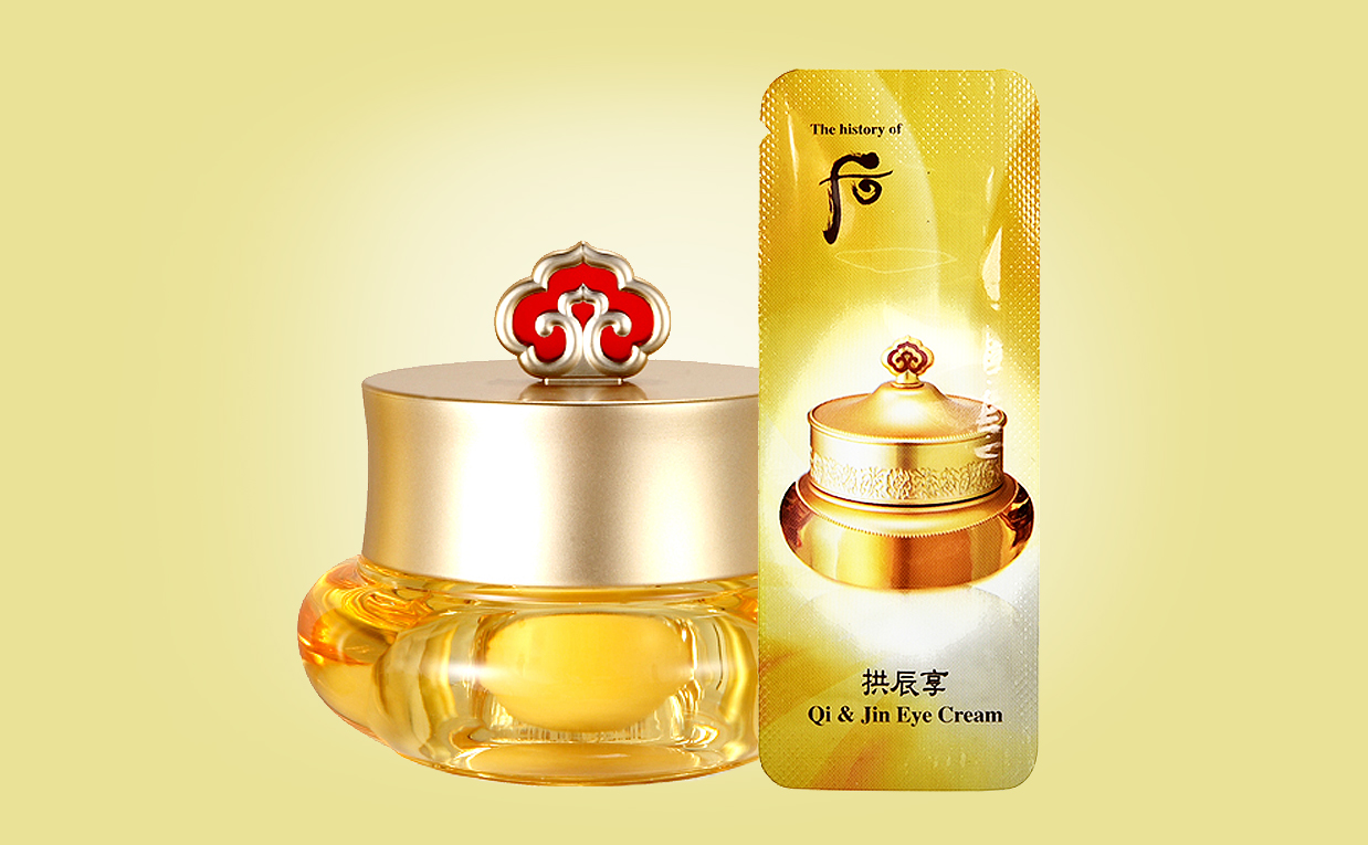 Köpa The History of Whoo Gongjinhyang Qi & Jin Eye Cream ögonkräm från Korea K-beauty webbshop Koreansk hudvård