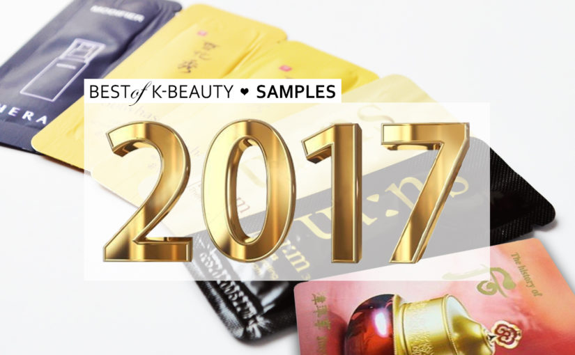 Best of Beauty 2017 Bästa Koreanska samples 2017 favoriter Samples från Korea Koreansk hudvård K-beauty Blogg Sverige