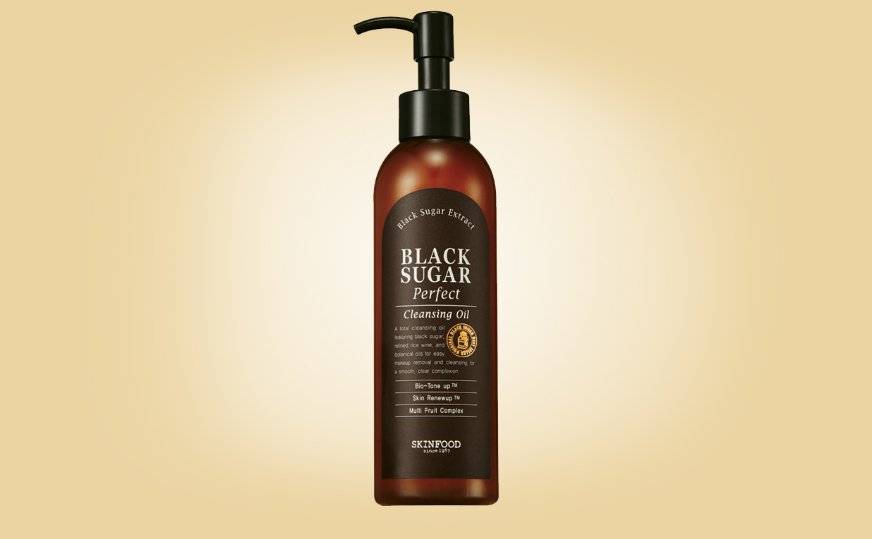 Köpa Skinfood Black Sugar Perfect Cleansing Oil rengöringsolja från Korea K-beauty webbshop