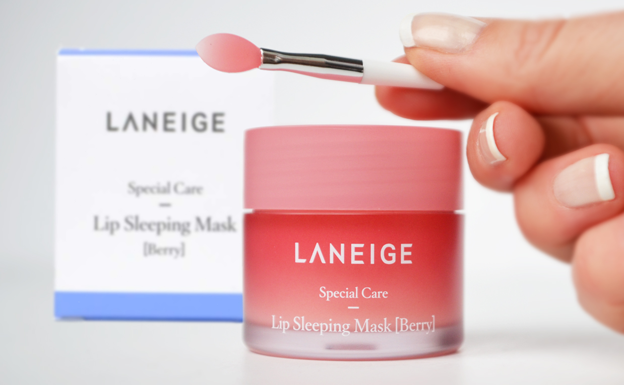 First impression recension Laneige Lip Sleeping Mask läppmask från Korea Koreansk hudvård K-beauty Sverige