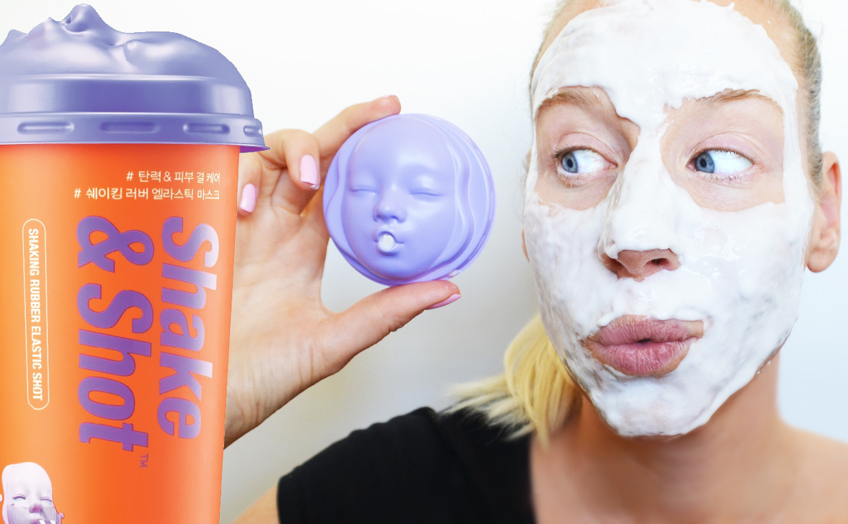 Recension Dr. Jart+ Shake & Shot Rubber Mask Elastic Shot ansiktsmask från Korea Koreansk hudvård K-beauty Blogg Sverige