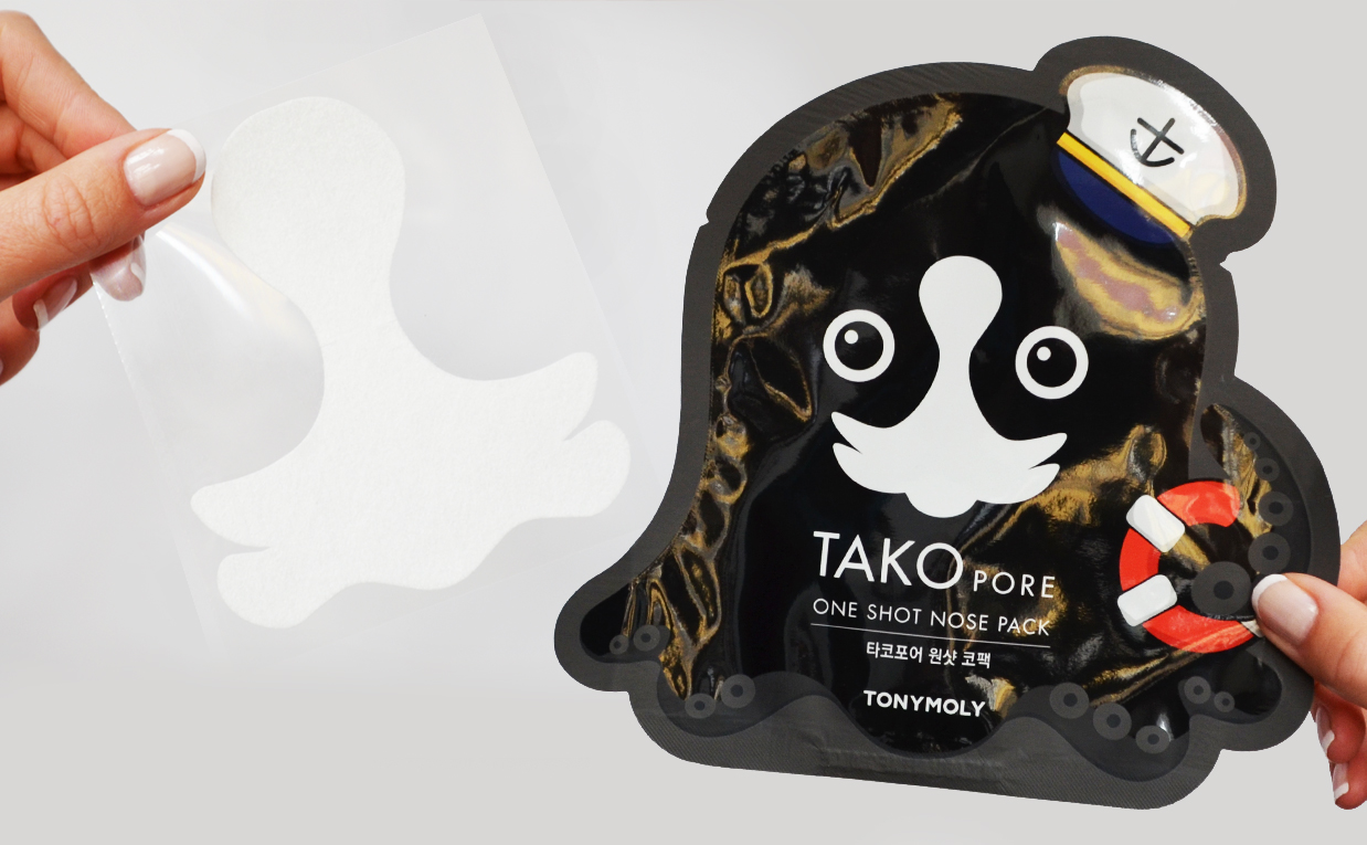 Recension Tonymoly Tako Pore One Shot Nose Pack från Korea Koreansk hudvård K-beauty Blogg Sverige