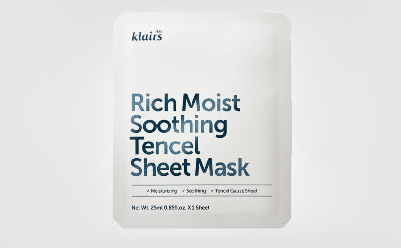 Recension Klairs Rich Moist Soothing Tencel Sheet Mask från Korea acne problemhud Koreansk hudvård K-beauty Blogg Sverige