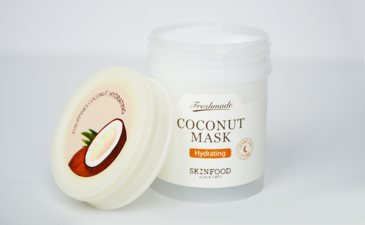 Recension Skinfood Freshmade Coconut Mask ansiktsmask kokos från Korea Koreansk hudvård K-beauty Blogg Sverige