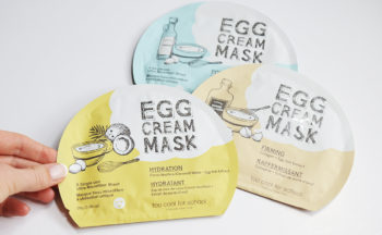 Recension Too Cool For School Egg Cream Mask sheet mask från Korea torr hud mogen hud porer Koreansk hudvård K-beauty Blogg Sverige