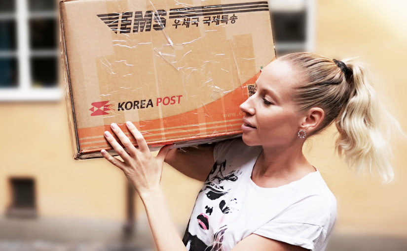 KOREA POST: Mega unboxing från Cosmetic Love 7.2kg K-beauty #nojoke