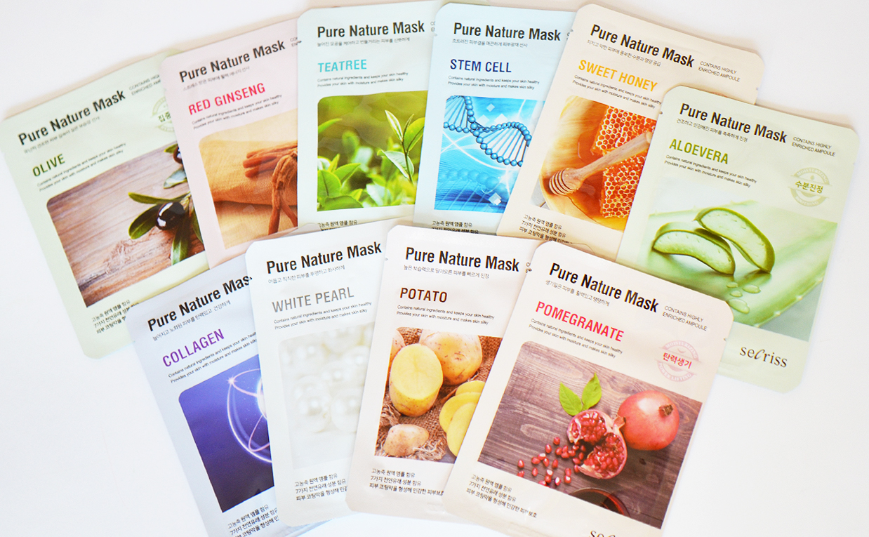 Secriss Pure Nature Mask sheet mask från Korea Koreansk hudvård K-beauty Blogg Sverige
