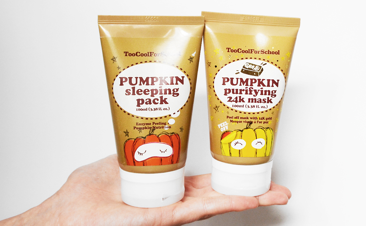 Recension Too Cool For School Pumpkin Purifying 24K Mask guld mask Too Cool For School Pumpkin Sleeping Pack från Korea Koreansk hudvård K-beauty Blogg Sverige