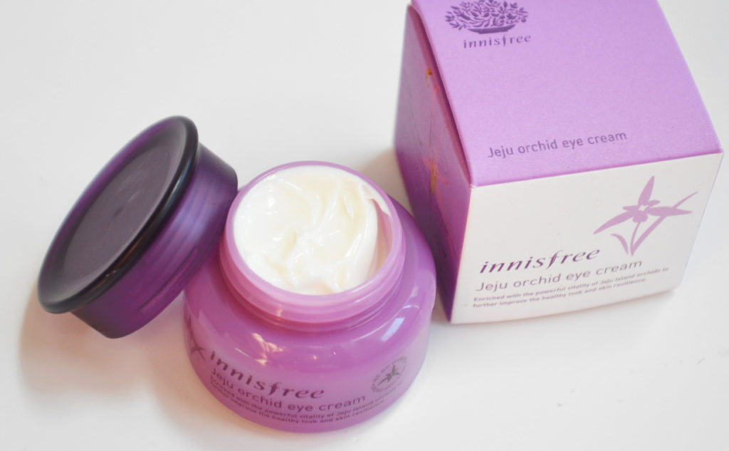 Recension Innisfree Jeju Orchid Eye Cream ögonkräm anti-age mot rynkor från Korea Koreansk hudvård K-beauty Blogg Sverige