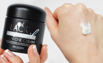 Recension Mizon Black Snail All-in-One Cream Snigelkräm från Korea Koreansk Hudvård K-beauty Blogg Sverige