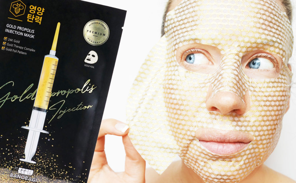 Banobagi Gold Propolis Injection Mask sheet mask från Korea Koreansk hudvård K-beauty Blogg Sverige