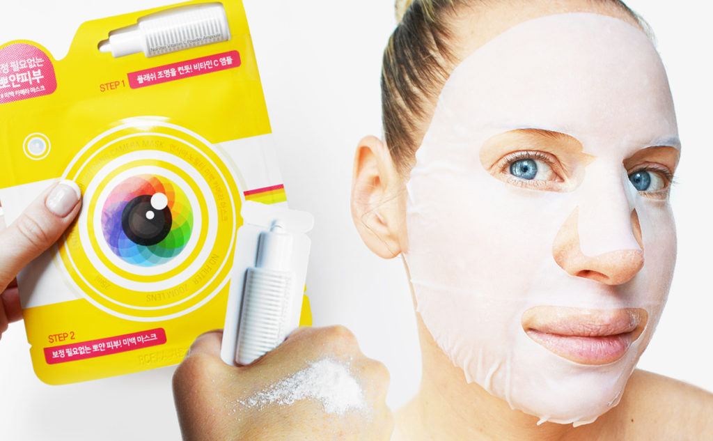 Entia No Filter Brightening Camera Mask uppljusande sheet mask lyster Koreansk hudvård K-beauty Blogg Sverige