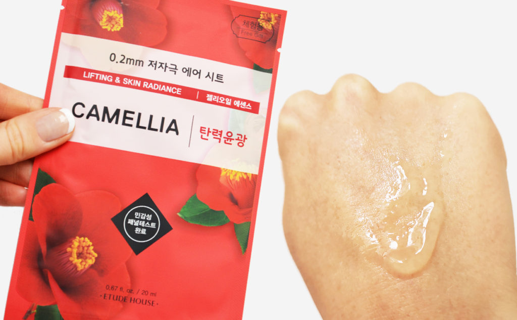 Etude House 0.2 Therapy Air Mask Camellia sheet mask från Korea Koeansk hudvård K-beauty Blogg Sverige