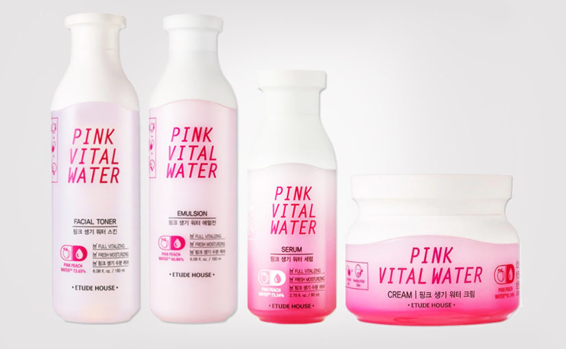 FIRST IMPRESSION: Etude House Pink Vital Water linjen