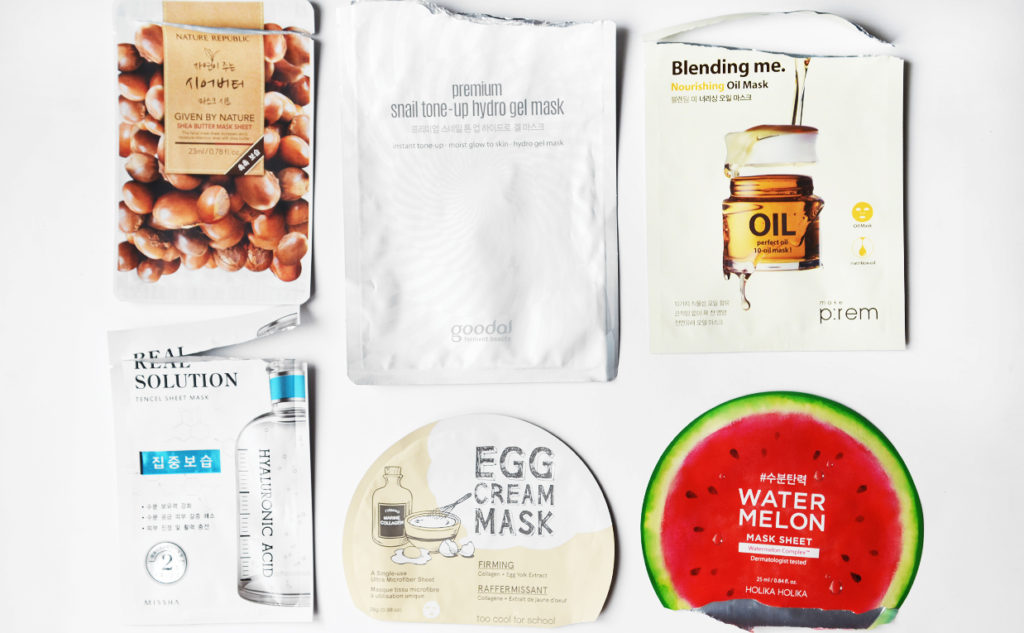 Bästa Koreanska sheet mask favoriter Holika Holika Missha Nature Republic Goodal Koreansk hudvård K-beauty Blogg Sverige