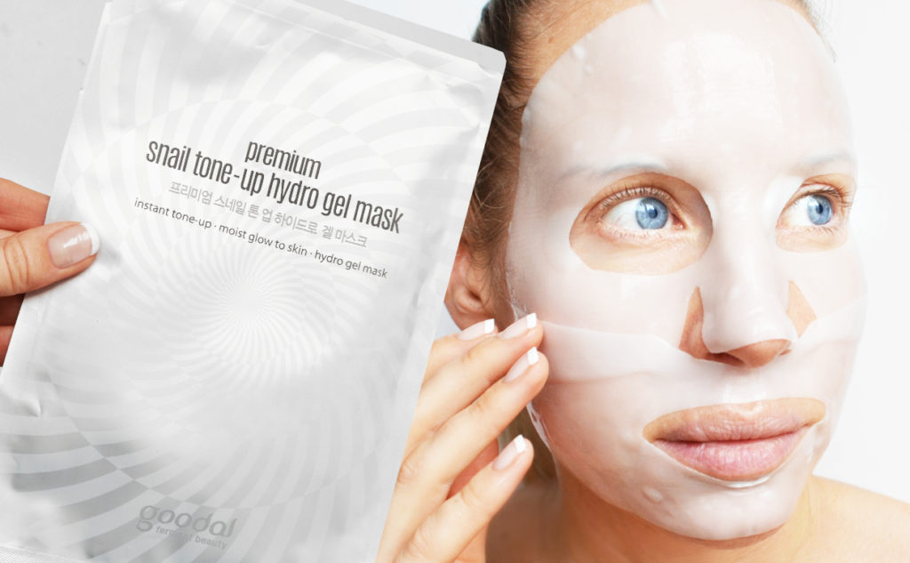 Goodal Premium Snail Tone-up Hydro Gel Mask sheet mask från Korea Koreansk hudvård K-beauty Blogg Sverige