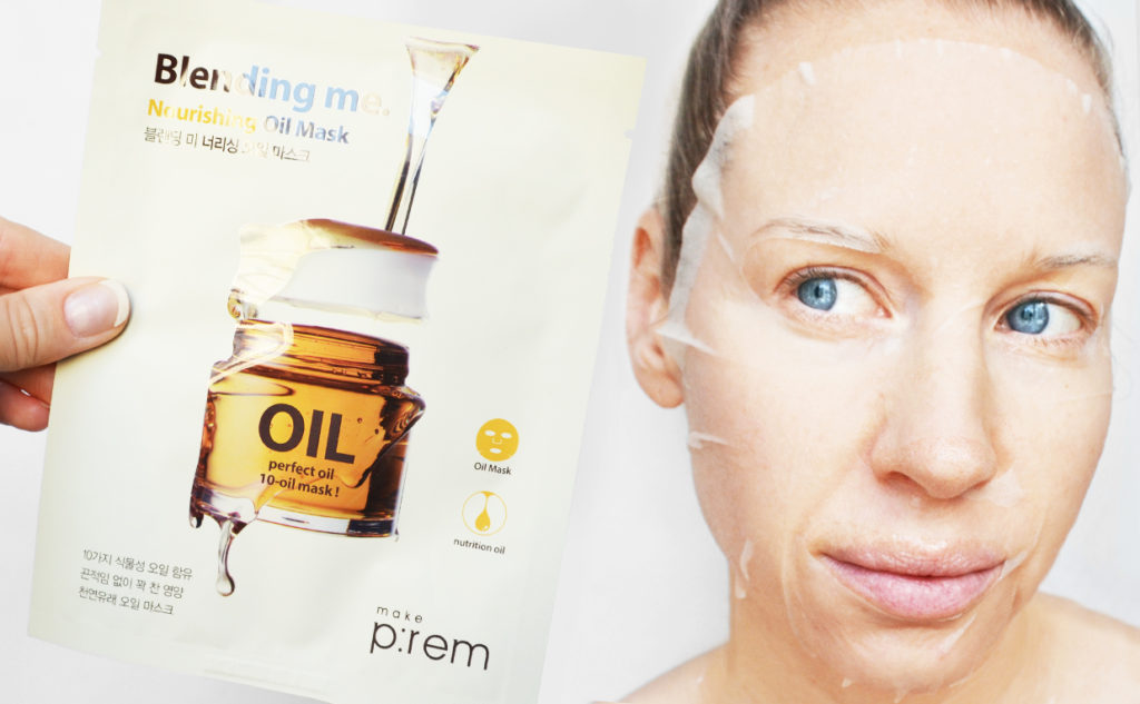 Make P:rem Blending Me Nourishing Oil Mask sheet mask från Korea torr hud K-beauty Blogg Sverige