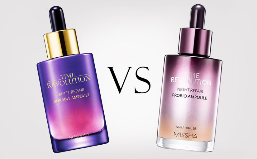 Nya Missha Night Repair Probio Ampoule VS Missha Borabit Ampoule