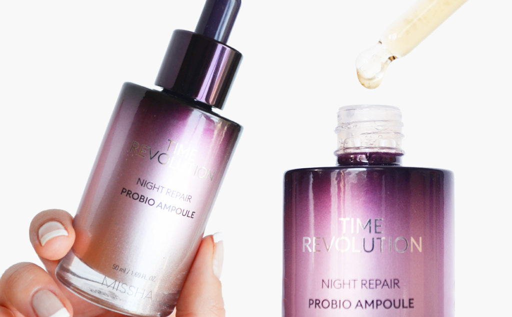 Missha Time Revolution Night Repair Probio Ampoule 2019 anti-age serum mot rynkor Koreansk hudvård K-beauty Blogg Sverige