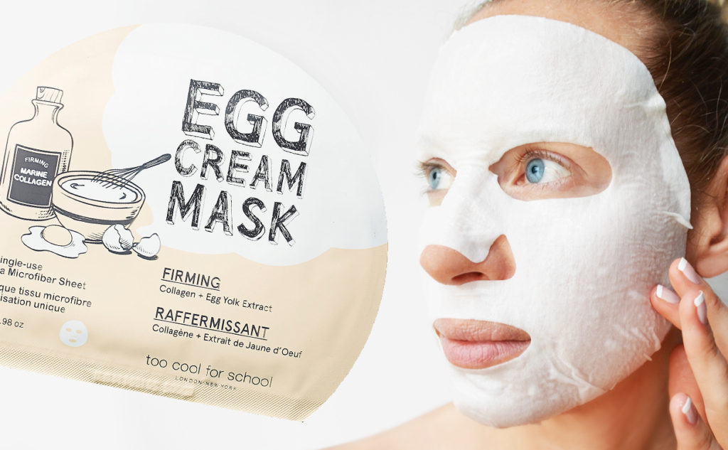 Too Cool For School Egg Cream Mask Firming sheet mask från korea rynkor anti-age Koreansk hudvård K-beauty Blogg Sverige