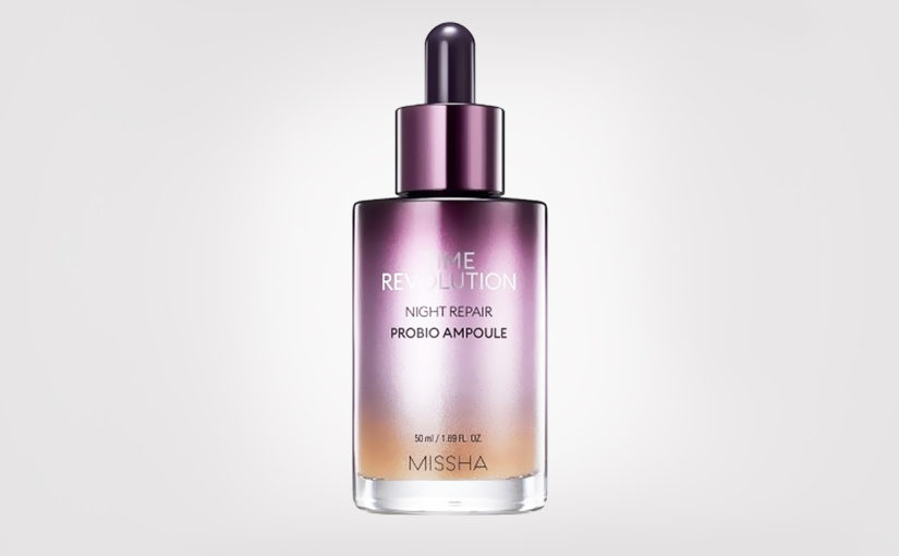Recension Missha Time Revolution Night Repair Probio Ampoule anti age serum rynkor pigmentering Koreansk hudvård K-beauty Blogg Sverige