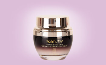 Köpa Farmstay Grape Stem Cell Wrinkle Repair Eye Cream ögonkräm från Korea anti-age mogen hud rynkor K-beauty webshop