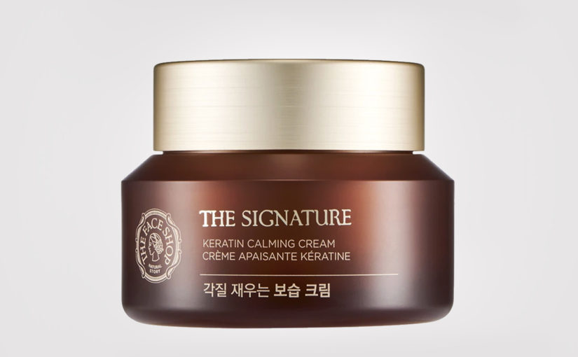 Recension Thefaceshop The Signature Keratin Calming Cream ansiktskräm Nattkräm från Korea anti-age rynkor mogen hud K-beauty Blogg Sverige