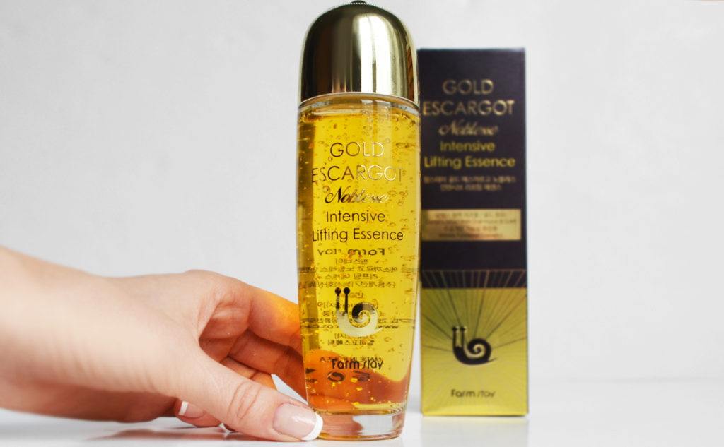 Recension Farmstay Gold Escargot Noblesse Intensive Lifting Essence anti-age rynkor Koreansk hudvård K-beauty Blogg Sverige