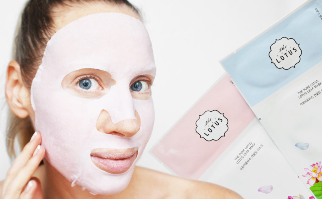 Recension The Pure Lotus Leaf Mask sheet mask från Korea soothing brightening wrinkle treatment anti-age rynkor K-beauty Blogg Sverige