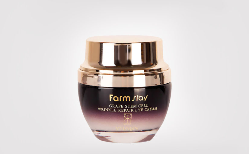 Recension Farmstay Grape Stem Cell Wrinkle Repair Eye Cream anti-age ögonkräm rynkor linjer Koreansk hudvård K-beauty Blogg Sverige