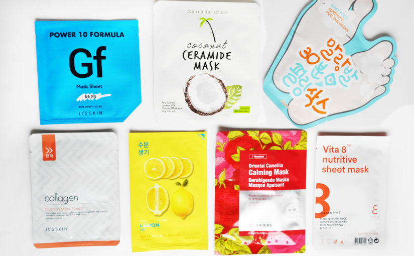7 sheet masks från Bonny Weekly!