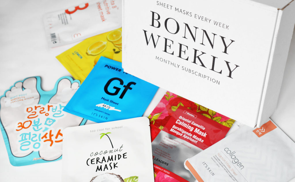 Bonny weekly bonnybonny sheet mask prenumerations box rabatt Koreansk hudvård K-beauty Blogg Sverige