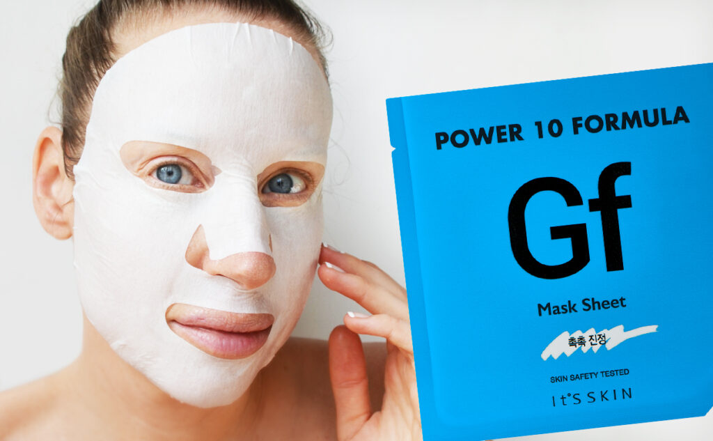 It's Skin Power 10 Formula GF Mask Sheet mask från Korea Koreansk hudvård K-beauty Blogg Sverige