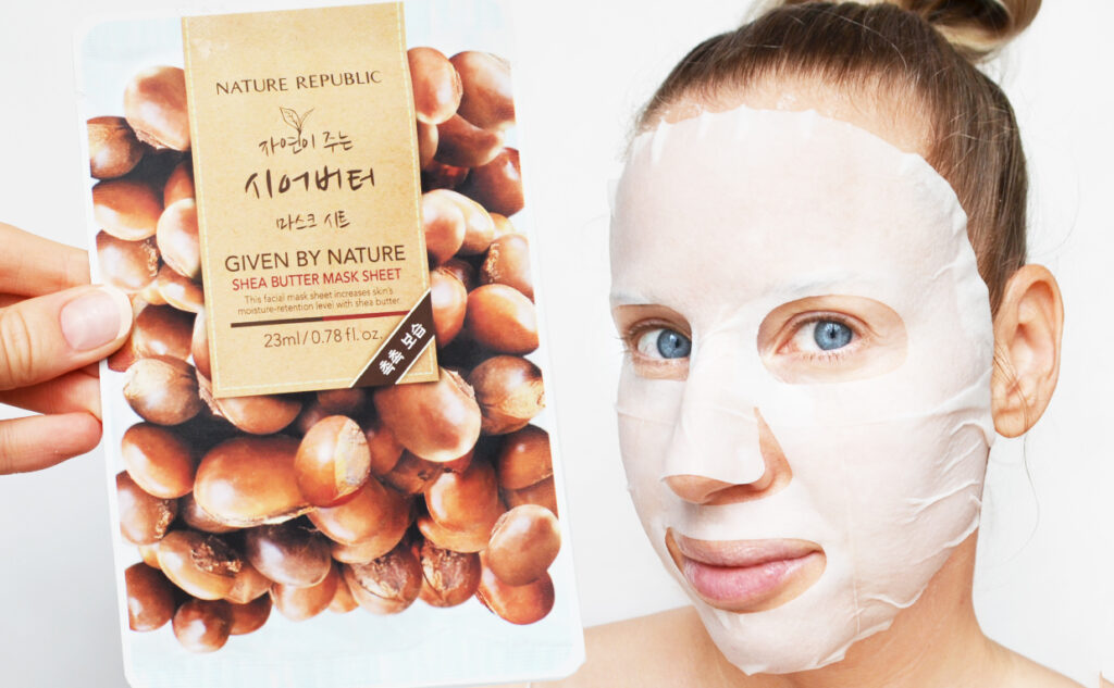 Nature Republic Shea Butter Mask Sheet ansiktsmask från Korea torr hud Koreansk hudvård K-beauty Blogg Sverige