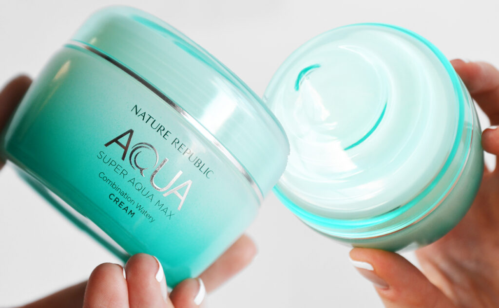 Recension Nature Republic Super Aqua Max Combination Watery Cream ansiktskräm från Korea kombinerad hud K-beauty Blogg Sverige